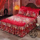 床裙單件夾棉韓版棉質防滑床罩床單1.8/1.5/2.0m米全棉席夢思床套  ~黑色地帶