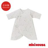 MIKI HOUSE BABY 日本製 彩色星星新生兒蝴蝶紗布衣