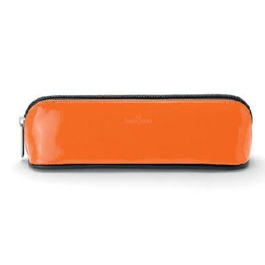 Faber-castell經典橘漆皮筆袋 *188825