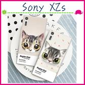 Sony XZs G8232 5.2吋 寵貓系列手機殼 大眼貓咪背蓋 PC手機套 可愛萌貓保護套 彩繪保護殼 硬殼