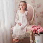 女童睡衣春秋長袖兒童宮廷睡裙莫代爾長款寶寶親子睡衣  【四月特賣】  XL【四月特賣】