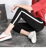 九分運動褲女夏季薄款寬鬆大碼韓版顯瘦學生矮個子小腳蘿卜褲七分 果果輕時尚