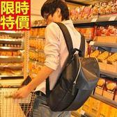 後背包-皮革氣質休閒風韓版潮流純色實用男女-雙肩包包-66m36【巴黎精品】