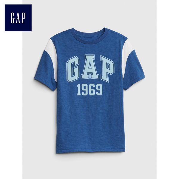 Gap男童 Logo活力短袖T恤 447287-波羅的海藍