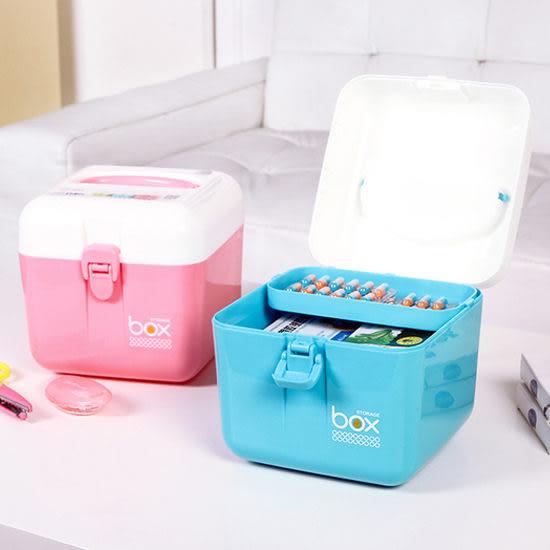 ◄ 生活家精品 ►【G36】多用雜物收納箱 醫藥箱 雜物 保健 多層 分類 整理 材料 零食 提手 工具