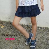 PINKNANA童裝-大童點點蛋糕棉質褲裙51212