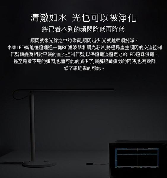 【刀鋒】小米 米家智能護眼LED檯燈 夜燈 桌燈 無可視頻閃 四種模式 色溫/亮度調節 小米智能APP