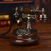 美式復古電話機座機仿古電話機家用座機無線插卡固定轉盤歐式電話   潮流前線