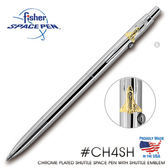 Fisher Space Pen 銀色筆身太空梭徽章筆夾太空筆 #CH4SH 【AH02180】聖誕節交換禮物 JC雜貨