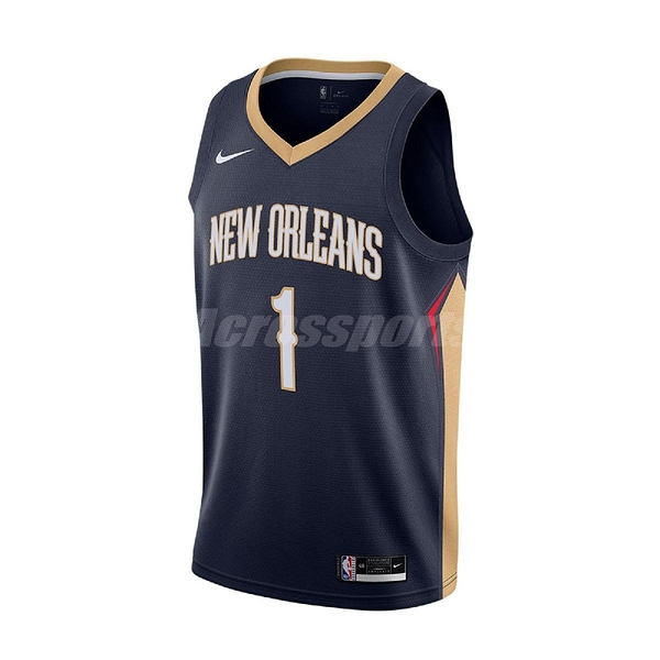 Nike 球衣 Zion Williamson Pelicans Icon Edition 2020 Nike NBA Swingman Jersey 藍 咖啡 男款 鵜鶘隊【ACS】 CW3674-424