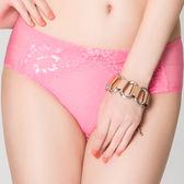 思薇爾-花優系列M-XXL蕾絲中腰三角內褲(朝霞粉)