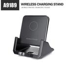 爆款A9189無線充電座 立式手機充電支架 10W快充 方形Qi無線充電盤 蘋果/安卓通用無線充電器