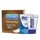 【愛愛雲端】情趣用品 杜蕾斯DUREX 超薄裝 衛生套 3入 + MAXSIZE 4ML
