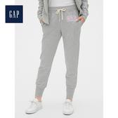 Gap女裝 Gap徽標柔軟毛圈布束口運動褲495428-亮麻灰色