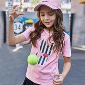 女童t恤短袖夏裝純棉2019新款兒童半袖中大童小女孩學生洋裝上衣