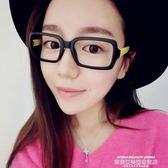 眼鏡框韓版潮復古女圓臉裝飾眼睛框鏡架個性全框眼鏡架無鏡片 【爆款特賣】