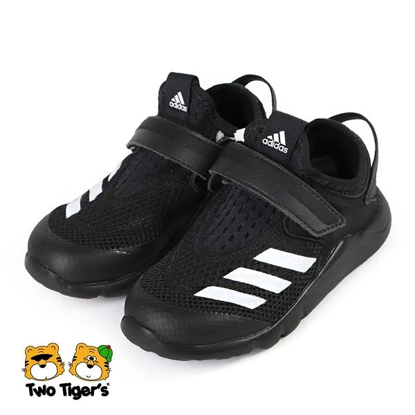 ADIDAS ActiveFlex S.RDY AC I 網布 魔鬼氈 運動鞋 小童鞋 黑色 NO.R6116