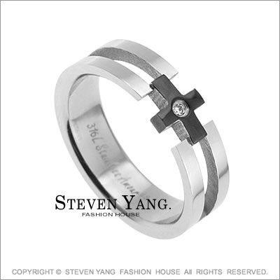 情人對戒 西德鋼飾「愛的祝福」鋼戒指尾戒*單個價格*百貨精品推薦