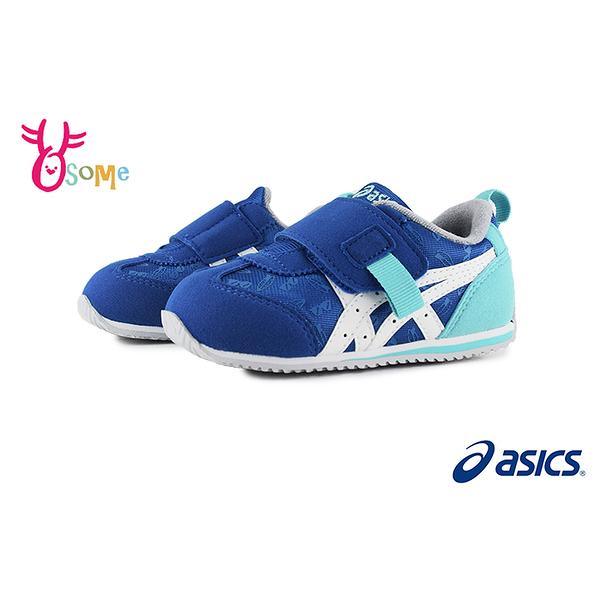 亞瑟士學步鞋 ASICS機能鞋 寶寶鞋IDAHOSUKU童鞋寶寶跑步鞋 足弓鞋墊 女學步鞋A9175#藍色◆奧森鞋業