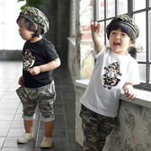 韓版潮流小猴短袖親子裝(小孩)