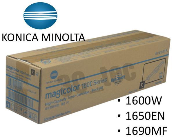 KONICA MINOLTA [黑色] magicolor 1600W / 1650EN / 1690MF原廠黑色高容量碳粉