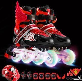 直排輪 溜冰鞋兒童全套裝男女初學者直排輪旱冰鞋輪滑鞋3-4-5-6-10歲【快速出貨國慶八折】