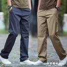 2020夏季薄款男士休閒褲大碼寬鬆直筒長褲子純棉百搭男褲韓版潮流【果果新品】