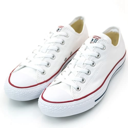 Converse Chuck Taylor All Star  -男女基本款低筒白色休閒鞋-  NO.M7652C