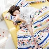 【eyah】台灣製200織精梳棉單人床包雙人被套三件組-夢幻彩繪