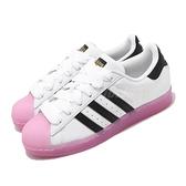 【六折特賣】adidas 休閒鞋 Superstar W 白 黑 粉紅 女鞋 果凍底 貝殼頭 運動鞋 【ACS】 FW3554