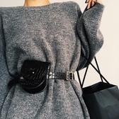 腰包女2019新款時尚個性時髦網紅pu皮ins手機運動跑步多功能包