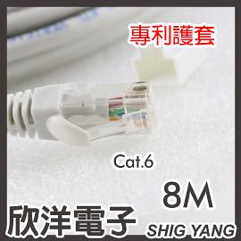 Twinnet Cat.6超高速網路線 8M/8米 附測試報告(含頭) 台灣製造(02-01-2008)