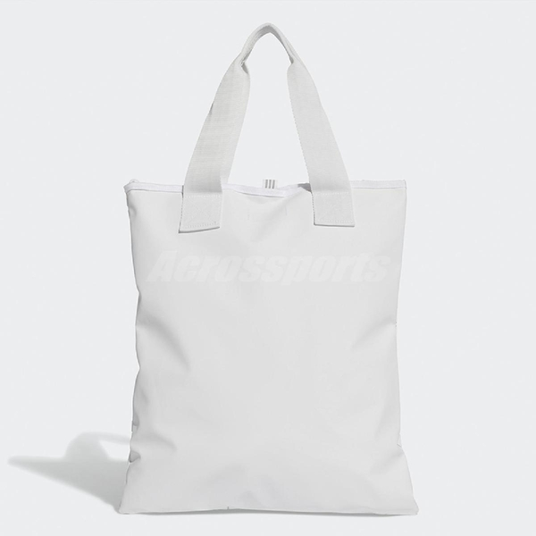 adidas 托特包 Shopper 3D 三宅一生 購物袋 白 全白 男女款 三葉草 基本款【ACS】 DY2970