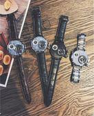 手表女學生韓版簡約創意時尚潮流大氣個性中性潮男復古炫酷表【叢林之家】