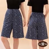 【岱妮蠶絲】森林精靈個性五分蠶絲短褲裙(深藍)