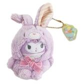 小禮堂 酷洛米 絨毛吊飾 兔耳吊飾 玩偶吊飾 玩偶鑰匙圈 (紫 2021復活節) 5550337-50890