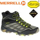 【MERRELL 美國 男款MOAB FST MID GORE-TEX 防水戶外多功能鞋《橄欖綠/黑】ML37565/登山鞋/休閒鞋