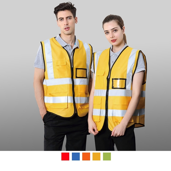 【晶輝團體制服】CH231*反光條工作服停車管理收費,建築工地道路施工反光背心