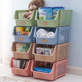 ✭慢思行✭【A35】可疊加居家收納籃 玩具 零食 廚房 蔬果 鏤空 透氣 通風 洗漱 沐浴 書櫃