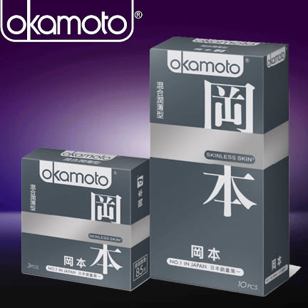 【周末及假日照常出貨】岡本混合潤薄型10入保險套(銀)Super Mixed 10片裝衛生套Okamoto Skinless Skin系列