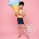 圖騰印花男童二分平口泳褲現貨台灣製造【36-66-B-20901-21】ibella 艾貝拉
