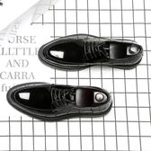 尖頭男鞋 時尚休閒鞋 正裝商務鞋 漆皮亮面男鞋【五巷六號】x294
