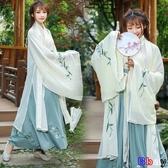 YoYo 古風女裝杜若古風服裝仙女清新淡雅襦裙改良漢服中國風廣袖魏晉風古裝