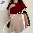 素色短袖T恤女夏季2021新款網紅修身顯瘦學生百搭短款上衣服ins潮 童趣屋 免運