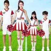 兒童啦啦操服裝足球啦啦隊表演服女