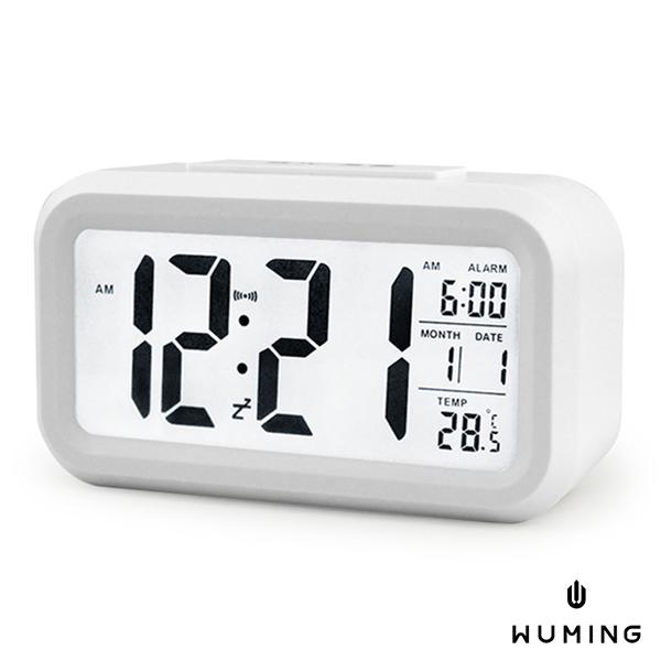 大螢幕 LED 鬧鐘 電子鐘 背光 夜光 日期 溫度顯示 靜音 智慧 感光 鬧鈴 貪睡 床頭 『無名』 K11114