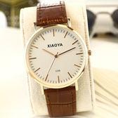 2018新款韓版時尚簡約手錶女學生休閒大氣真皮帶男錶非機械石英錶