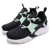 ISNEAKERS Nike Wmns Air Huarache 黑 蒂芬妮綠 魔鬼氈 武士 慢跑鞋 AH6804-010