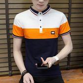 短袖POLO衫T恤男夏季修身休閒個性百搭潮流男T《印象精品》t287