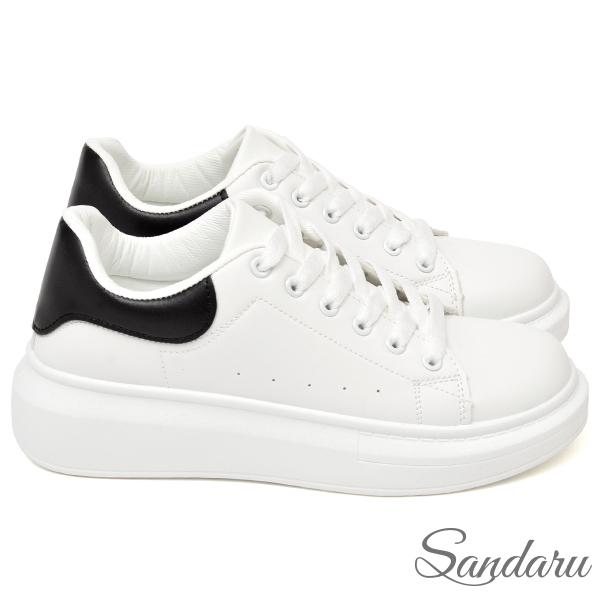 訂製款 防磨腳厚底配色小白鞋-黑色下單區
